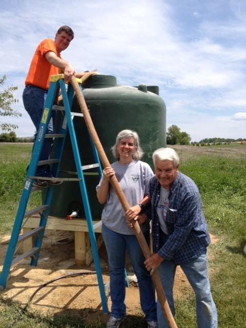 Micah's Garden cistern